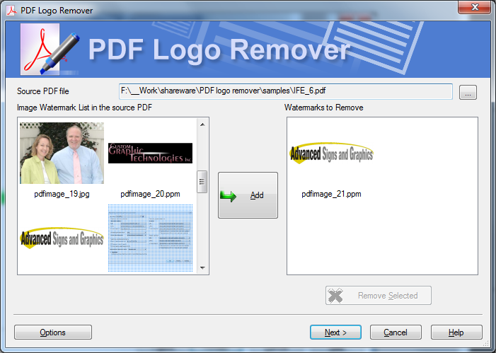 Remove Logo From PDF Screenshot